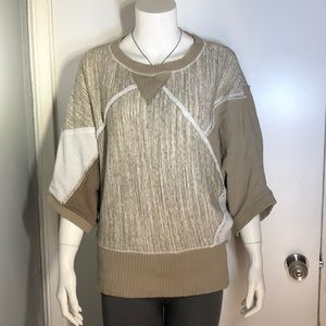 Women's Grey State 3/4 Sleeve sweater Sz S